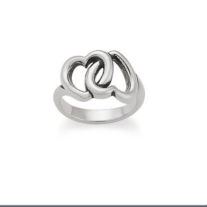 James Avery Linked Hearts ring